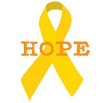 Childhood Cancer ribbon awareness