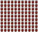 Red Beatles pattern
