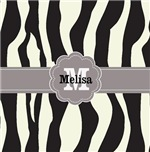 Zebra stripes monogram  personalized