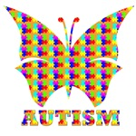 Autism puzzle butterfly
