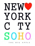 New York City SOHO Classic BlkRnbo Lrg The Big App