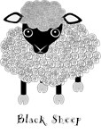 Black Sheep with label