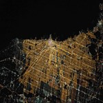 Chicago at Night from Space