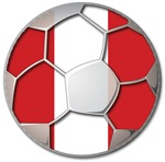 Peru Flag World Cup Soccer Football Futbol Ball