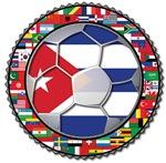 Cuba Flag World Cup Futbol Soccer Football Ball wi