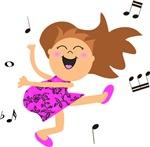 Happy dancing girl