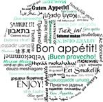 Bon appetit around the world - Teal  / turquoise