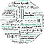 Bon appetit around the world - Teal  / turquoise