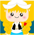 Kawaii Blond Girl Cartoon from Holland