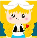 Kawaii Blond Girl Cartoon from Holland
