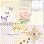 Girly pastel vintage collage