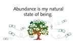 Abundance is...