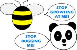 PANDA & BEE HUMOR