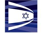 Israeli Flag on Black Shirt