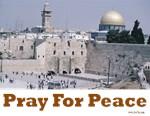 Jerusalem Pray for Peace
