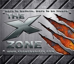 X ZONE logo - Brushed Steel