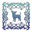 Chihuahua Blue Ornamental Lattice