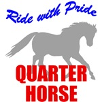 Ride With Pride Quarter Horse T-Shirts