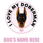 Personalized Doberman Pinscher T-Shirts
