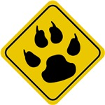 Cat Paw Crossing Sign T-Shirts