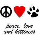 Peace Love & Kittiness T-Shirts