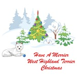 Have A Merrier West Highland Terrier Christmas T-Shirts