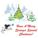 Christmas Black Springer Spaniel