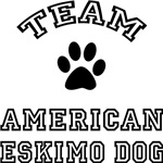 Team Eskimo Dog Greeting Cards