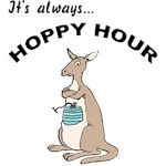 Hoppy Hour Kangaroo T-Shirts