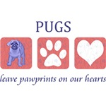 Pug Pawprints T-Shirts
