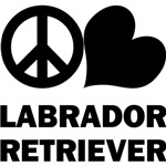 Peace Love Labrador Retriever T-Shirts