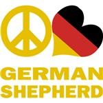 Peace Love German Shepherd T-Shirts