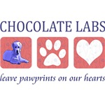 Chocolate Lab Paw Prints T-Shirt
