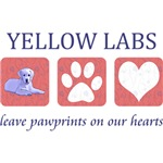 Yellow Lab Paw Prints T-Shirt