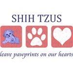 Shih Tzu Paw Prints T-Shirt