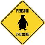 Penguin Crossing Sign
