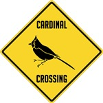 Cardinal Crossing Sign