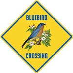 Bluebird Crossing Sign