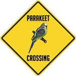 Parakeet Crossing Sign