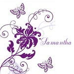 Pretty Butterflies-Personalizable