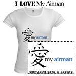 I LOVE My Airman T-Shirts and Gifts