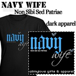 Navy Wife (Blue Hearts) T-shirts and Gifts