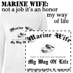 Marine Wife: Not a Job It's an Honor Tees & Gifts