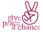 Give Peace a Chance - Pink Hand Sign