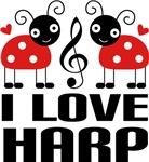I Love Harp Ladybug T-shirts