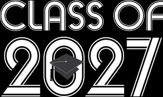 Class of 2027 Grad Hat Logo T-shirts