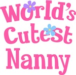 Worlds Cutest Nanny Gifts and T-shirts