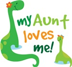 My Aunt Loves Me Dino T Shirts for Kids