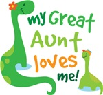 My Great Aunt Loves Me Dino T Shirts for Kids