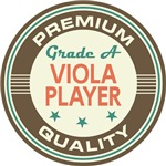Viola Player T-shirts (Premium Quali